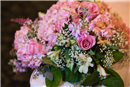 Pretty in Pink Wedding Reception Details