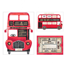 Red Bus Wedding Stationery
