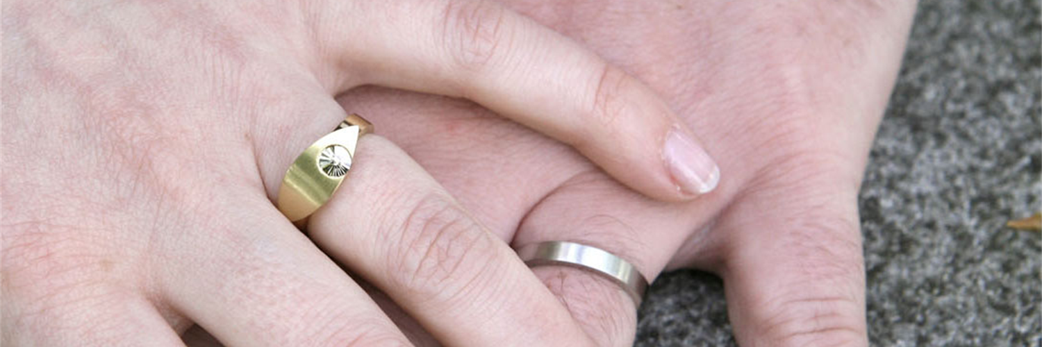Wedding and engagement rings from Sophie Heymans in Brussels