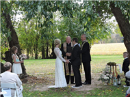 Ken Warne - Men In Black Wedding Officiants - Worsell Manor - Patrick and Stephanie