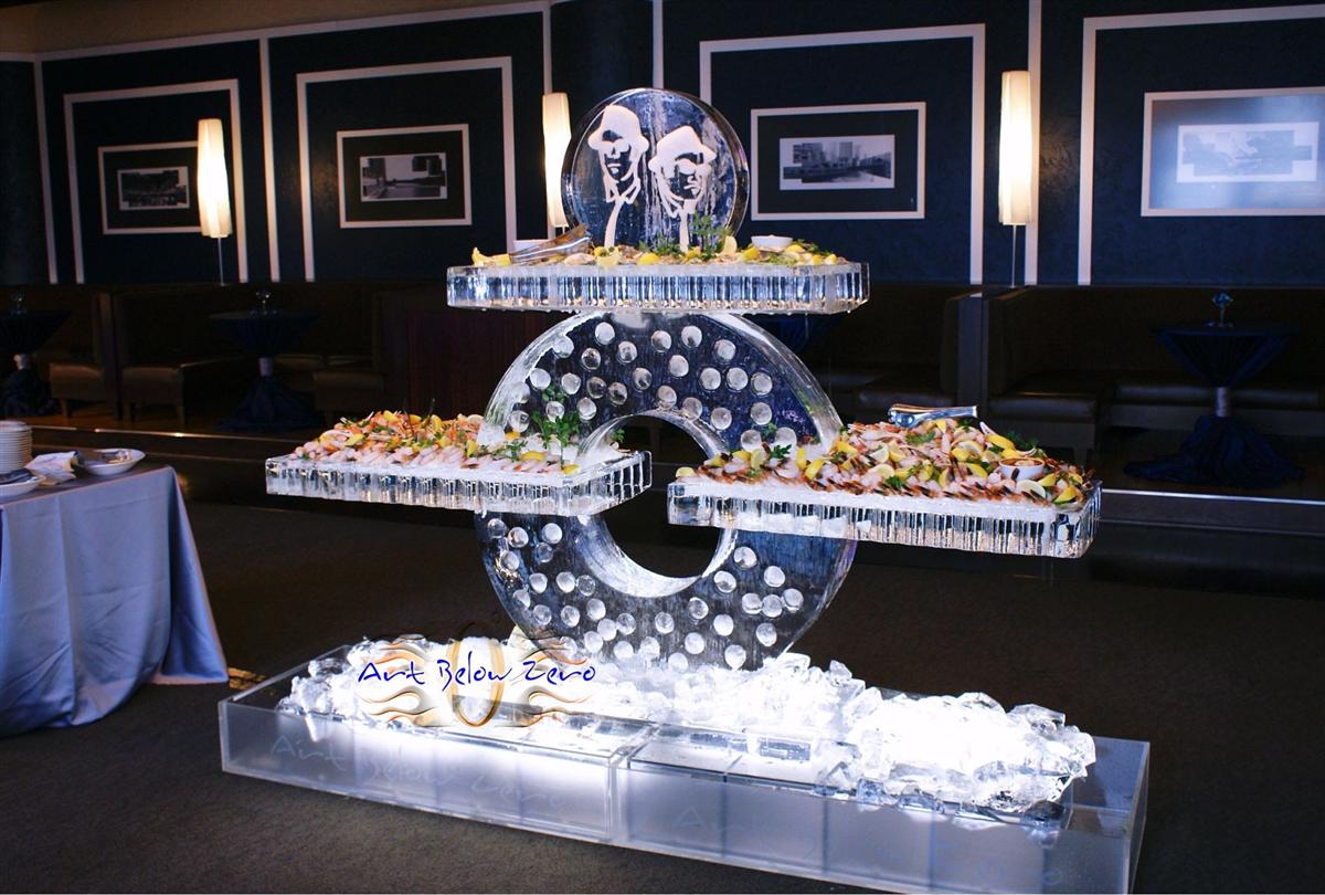 Art Below Zero   Balance Seafood Display Ice Sculpture