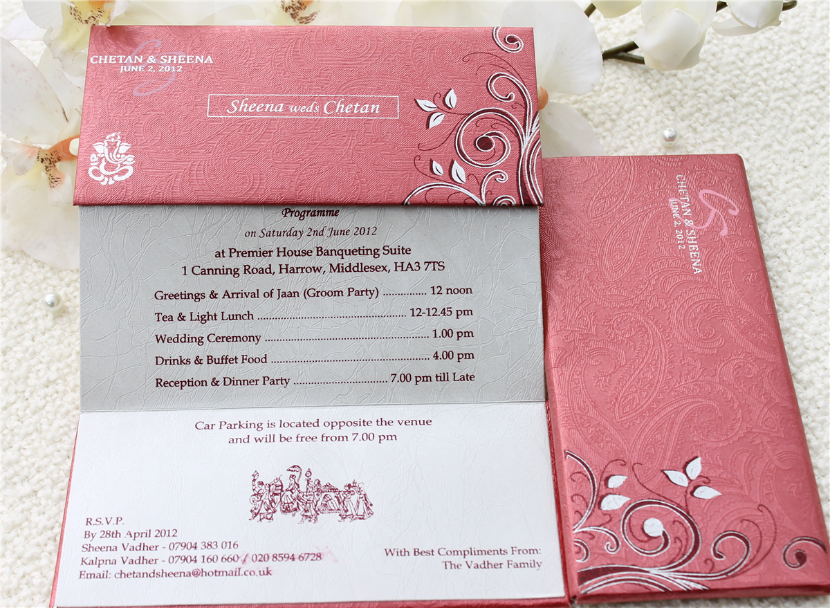 Wedding Stationary By Card Boutique In Surrey British