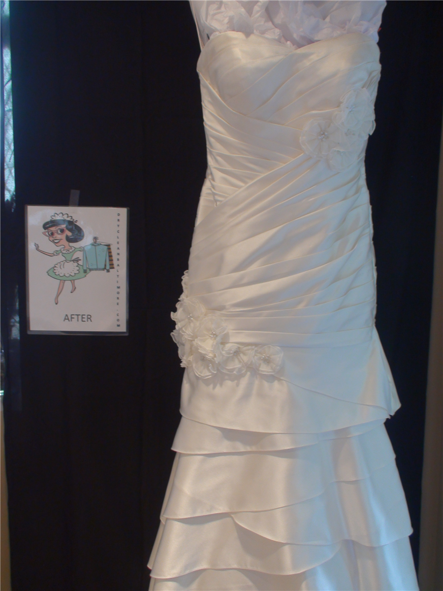 Wedding dresses from dry clean baltimore in baltimore for Where to dry clean wedding dress