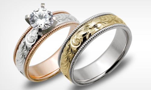 Wedding and engagement rings from Honolulu Jewelry Company in