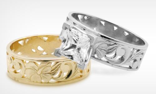 Honolulu Jewelry Company Mau Loa Hawaiian Wedding Ring