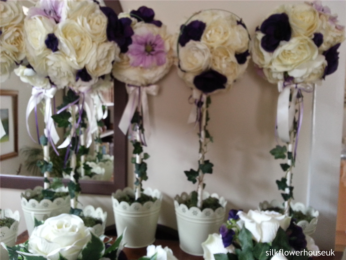 Bridal Bouquets By Silk Flower House In Beaconsfield England