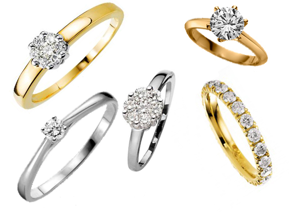 6df774b5db6018 Wedding and engagement rings from Het Zaanse Bruidshuis in Zaandam ...